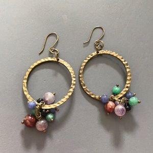 Gold and Bead Boho Earrings